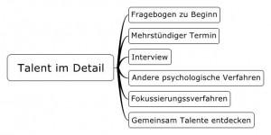 Eine Mindmapdarstellung des Ablaufs unserer Talentdiagnostik